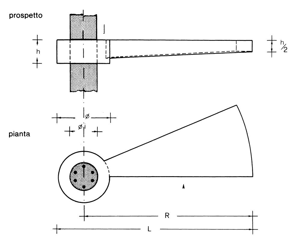 Lavori e manufatti in cemento for Scala elicoidale dwg