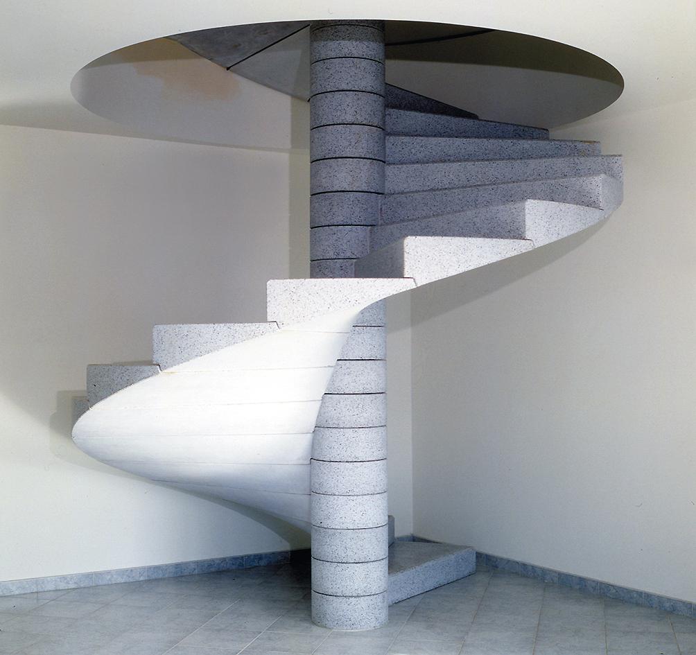 Lavori e manufatti in cemento - Scale a chiocciola in cemento prefabbricate ...